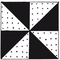 Квадраты в лоскутном шитье