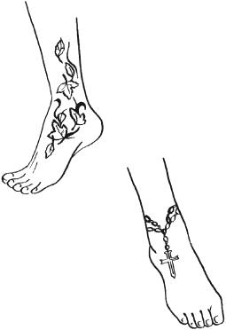 Плетенки на ногу тату 128