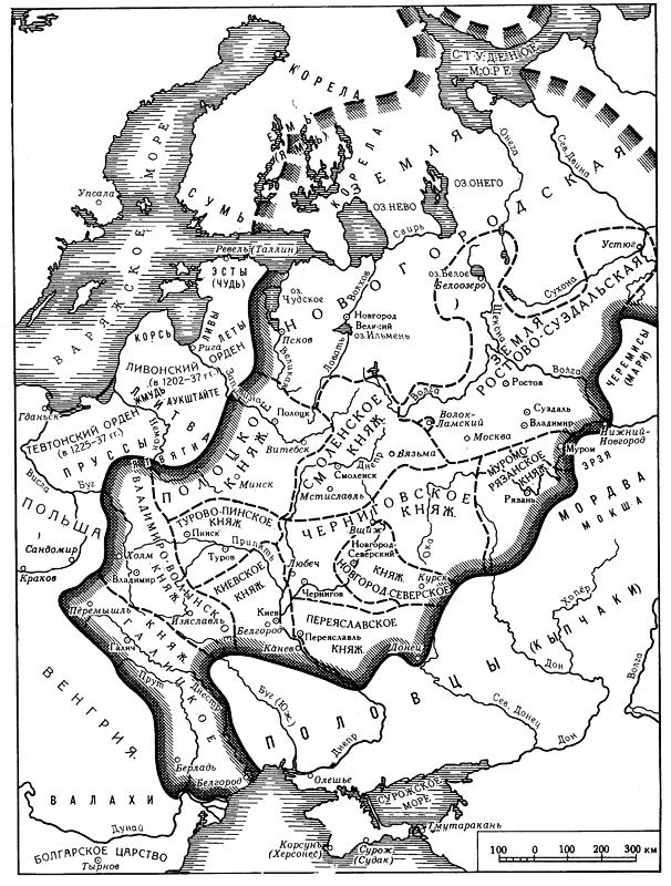 Общая схема русских княжеств