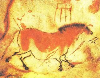 89 наскальная живопись лошадь