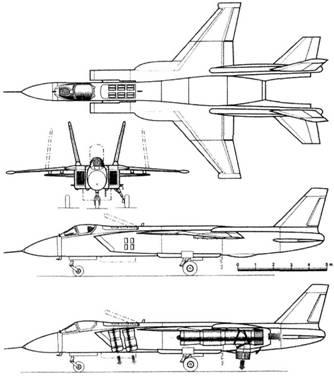 Схема СВВП Як-141