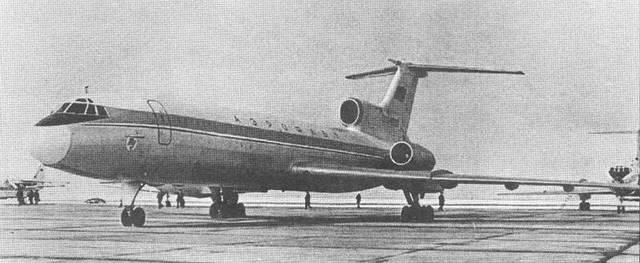 Летные испытания Ту-154