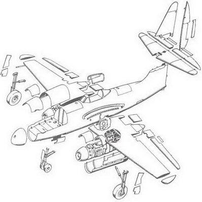 самолета Су-9. Схема