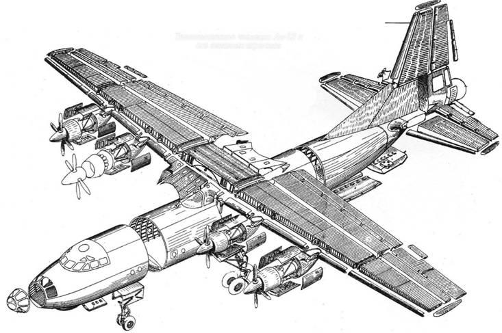 Технологическое членение Ан-12