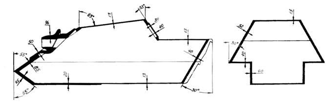 Схема бронирования самоходной